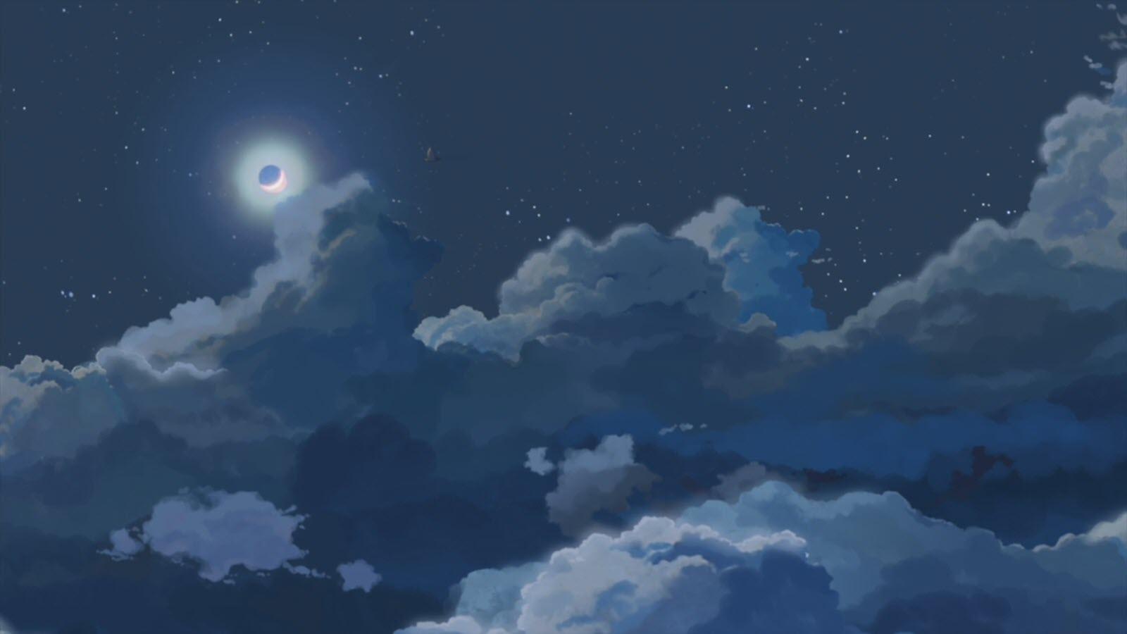 Ảnh anime galaxy bầu trời đêm