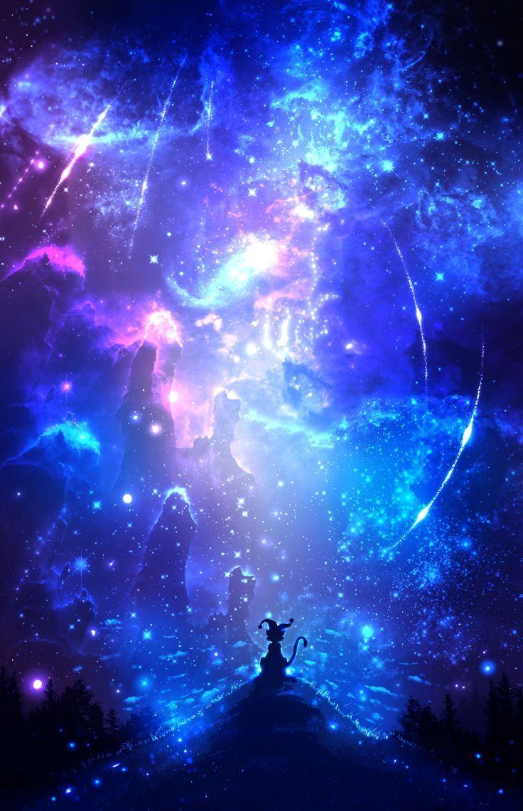 Ảnh anime galaxy cho điện thoại