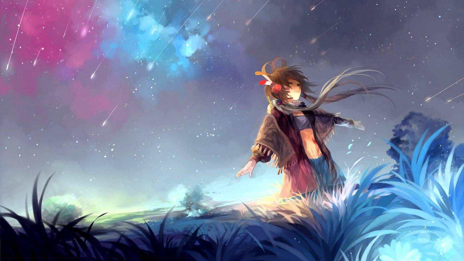 Ảnh anime galaxy girl cực đẹp