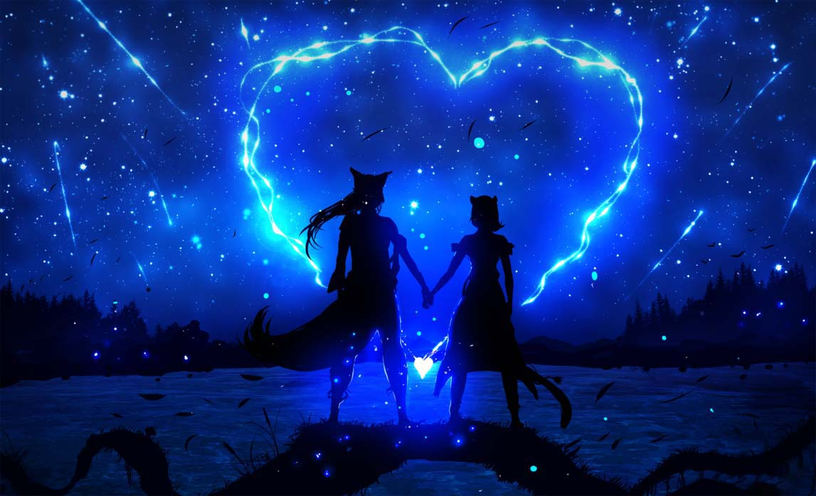 Ảnh anime galaxy tình yêu