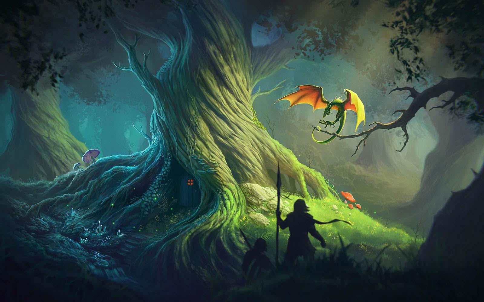 Ảnh anime phong cảnh đẹp trong rừng