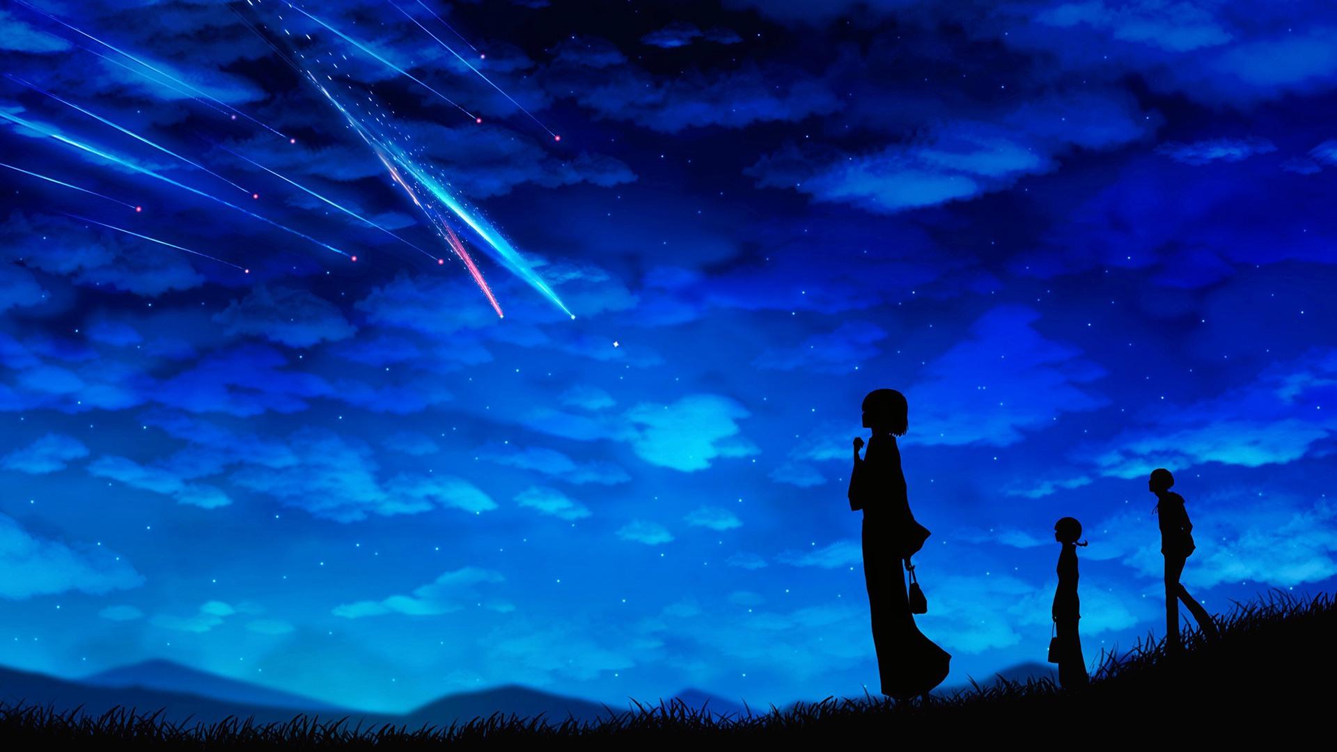 Ảnh đẹp anime galaxy