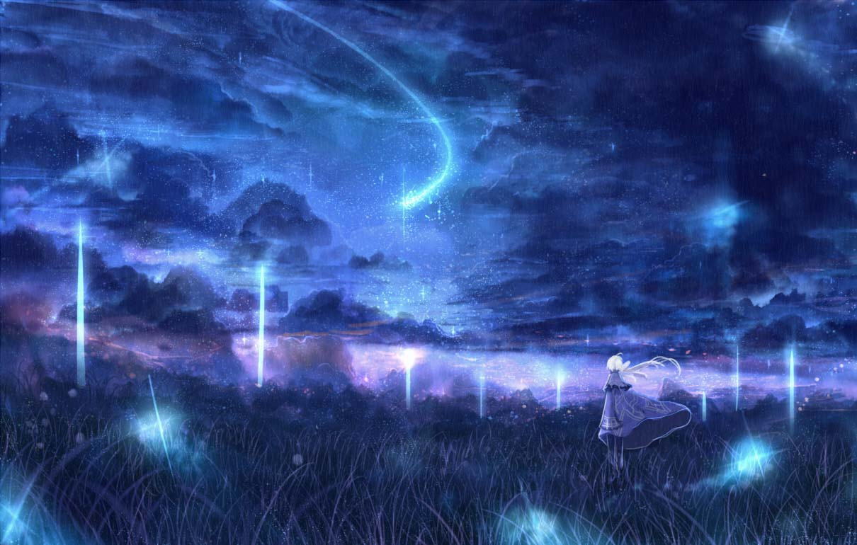 Download 900+ Background Anime Galaxy Terbaik