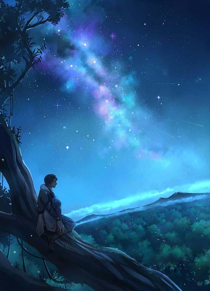 Anime galaxy đẹp và chất nhất