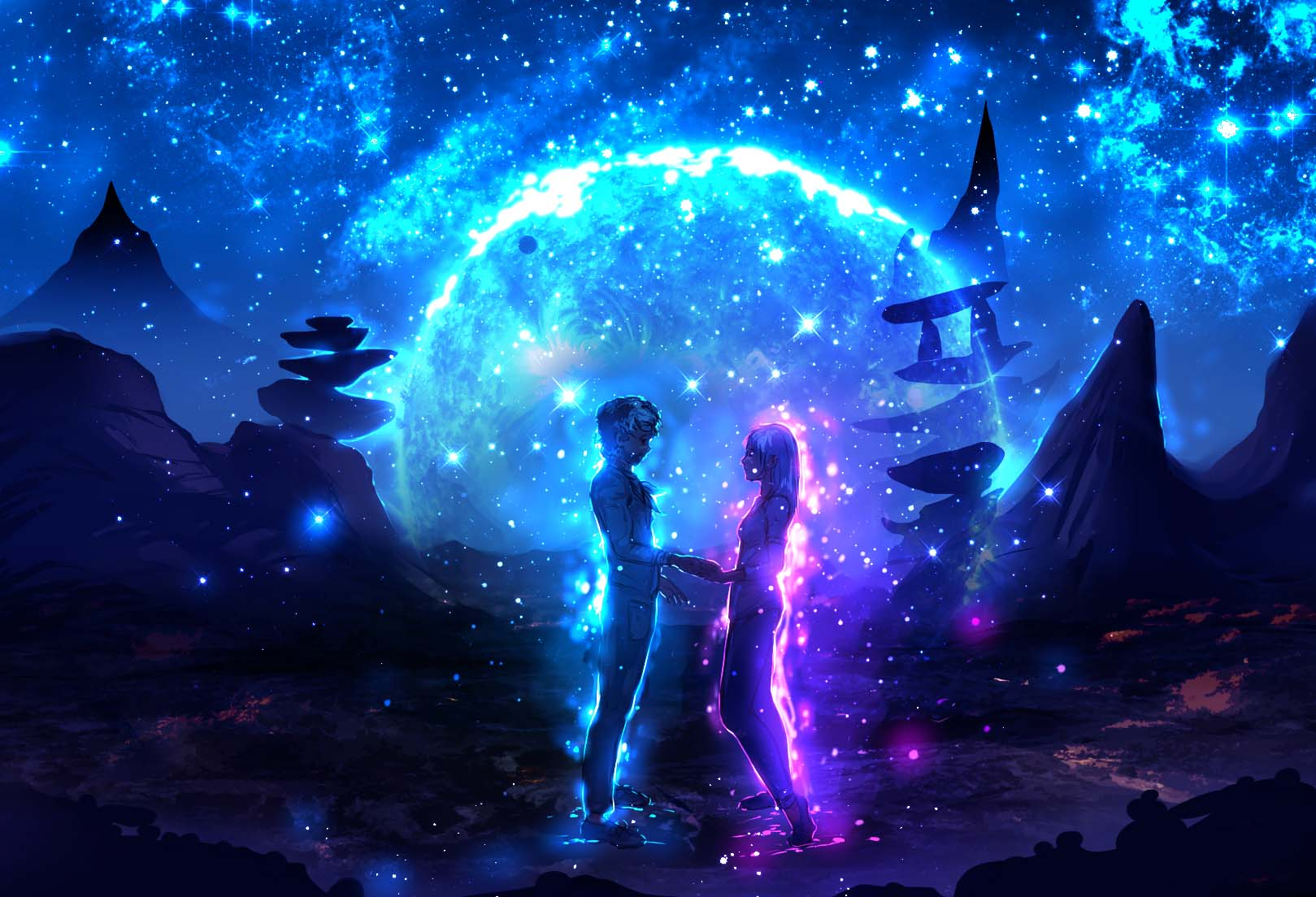 Anime galaxy đẹp và huyền ảo