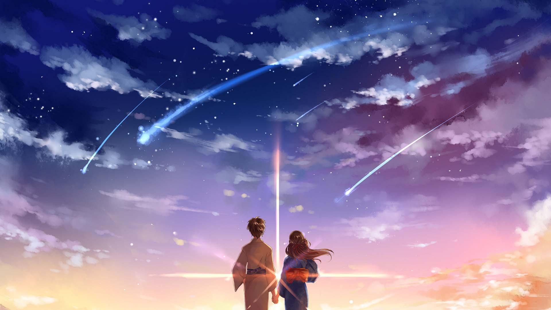 Anime galaxy đôi đẹp