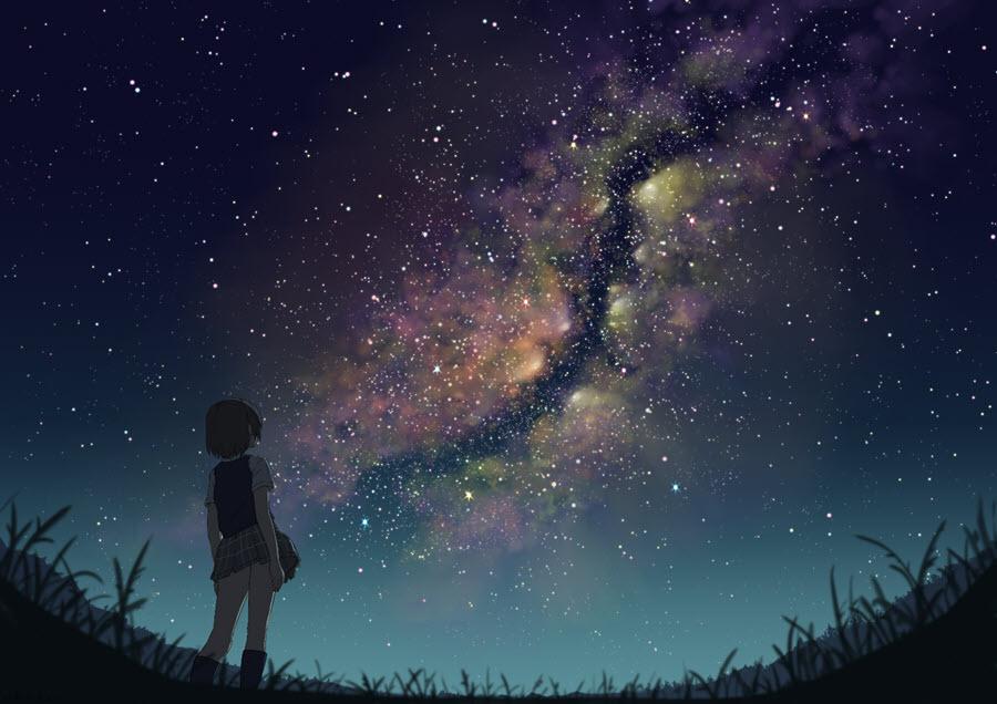 Anime galaxy girl đẹp và chất