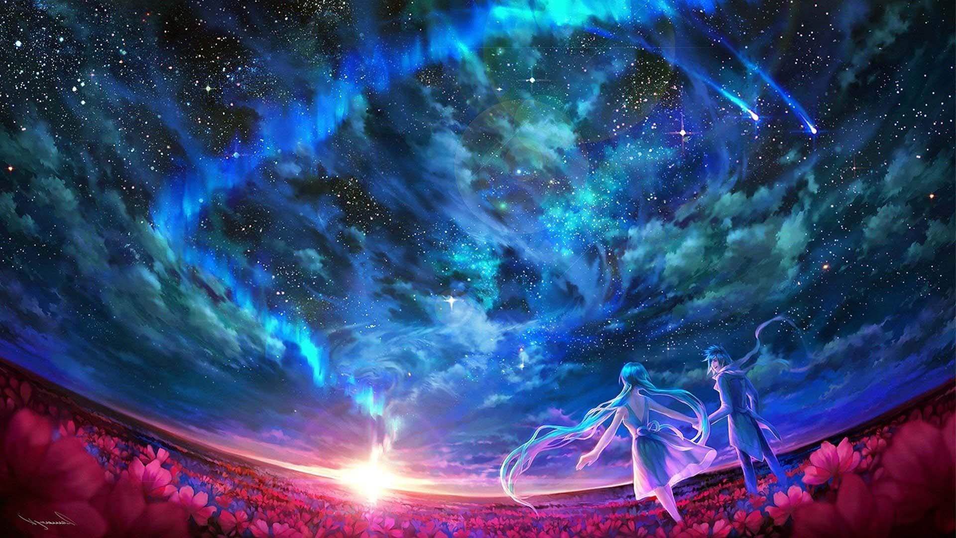 Anime galaxy phong cảnh
