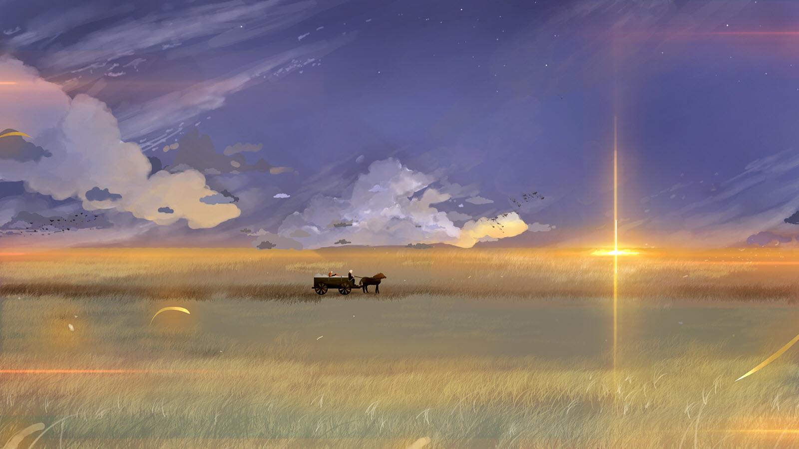 Anime phong cảnh bầu trời