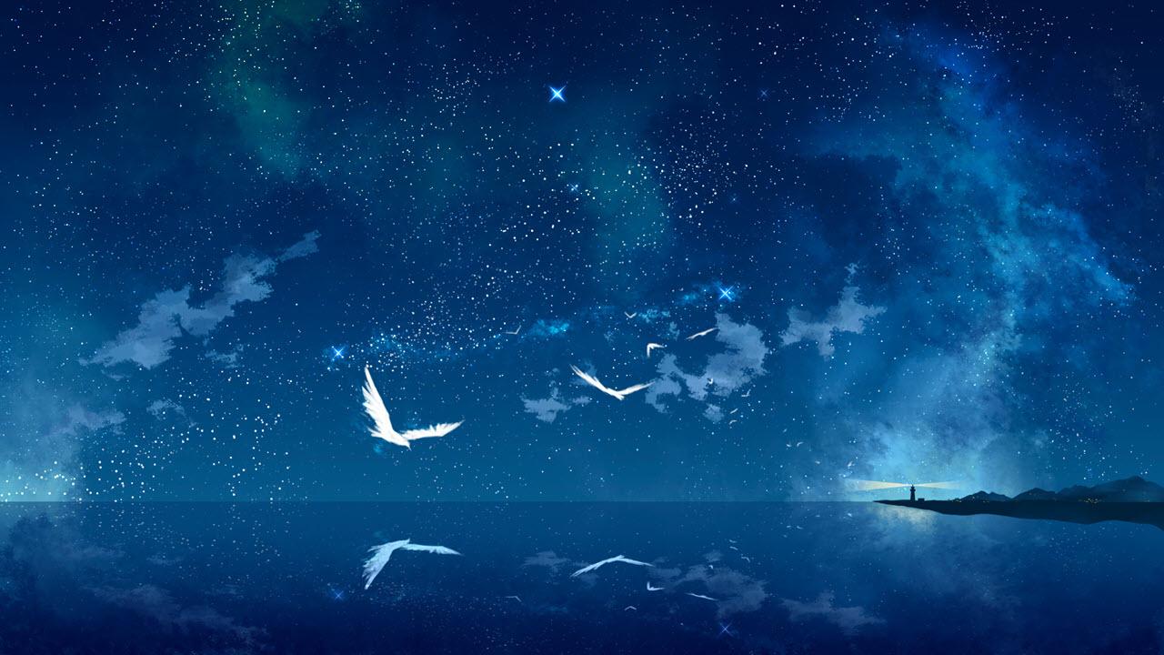 Hình ảnh anime galaxy cực đẹp