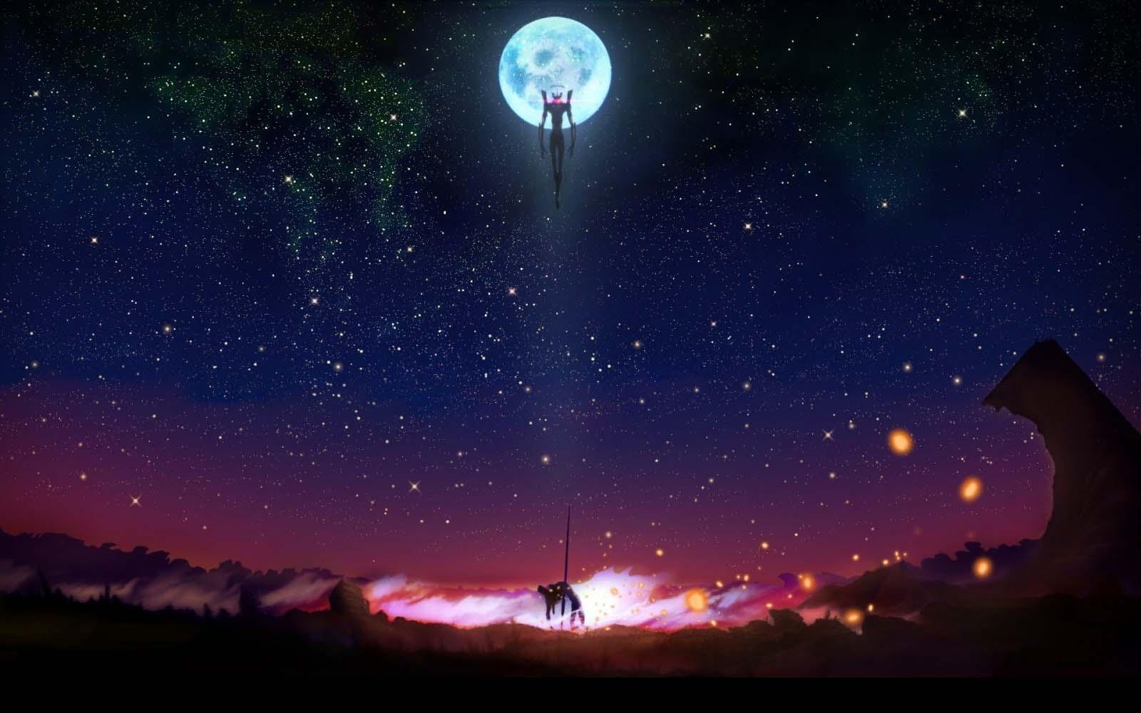 Hình ảnh anime galaxy đẹp cho pc