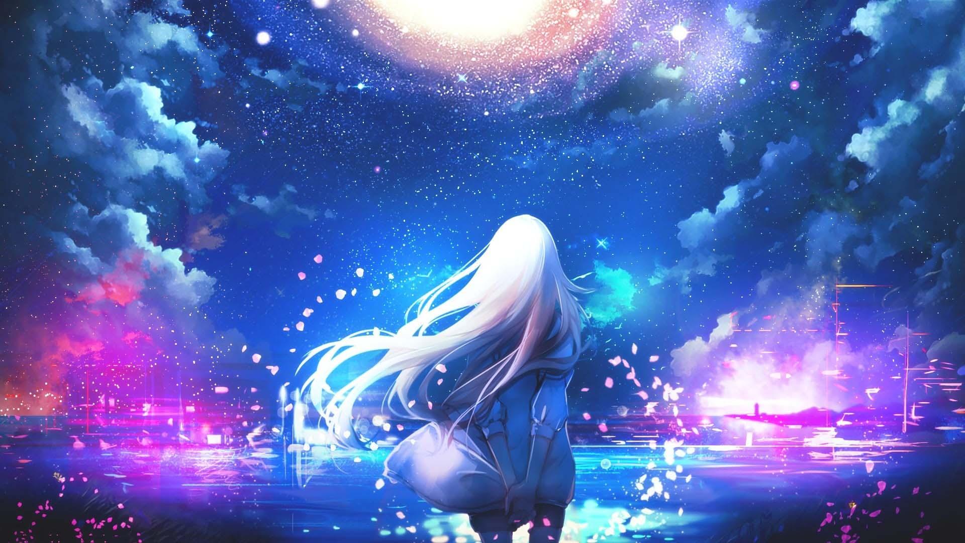 Hình ảnh anime galaxy đẹp nhất