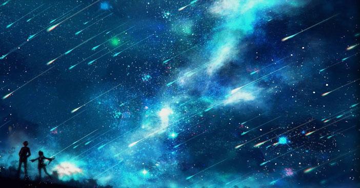 Hình ảnh anime galaxy sao băng