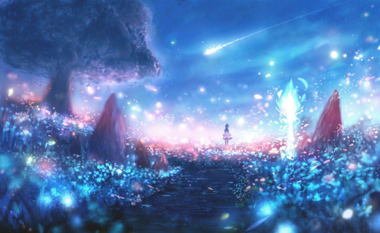 Hình ảnh anime girl huyền ảo