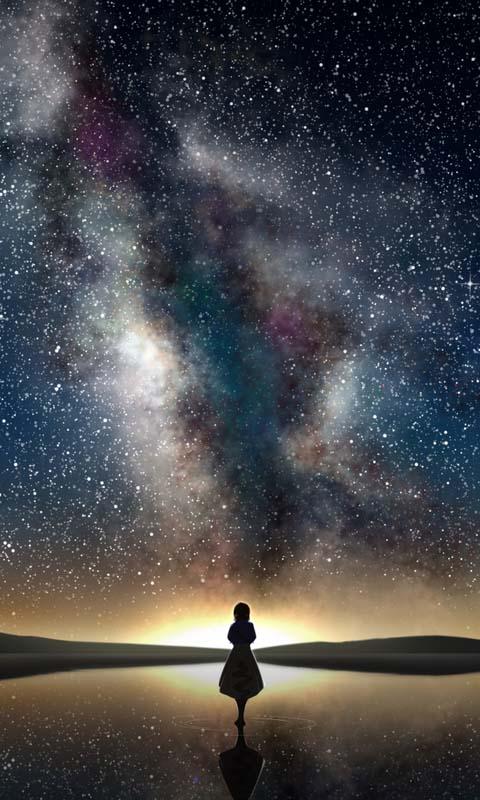 Hình ảnh đẹp anime galaxy