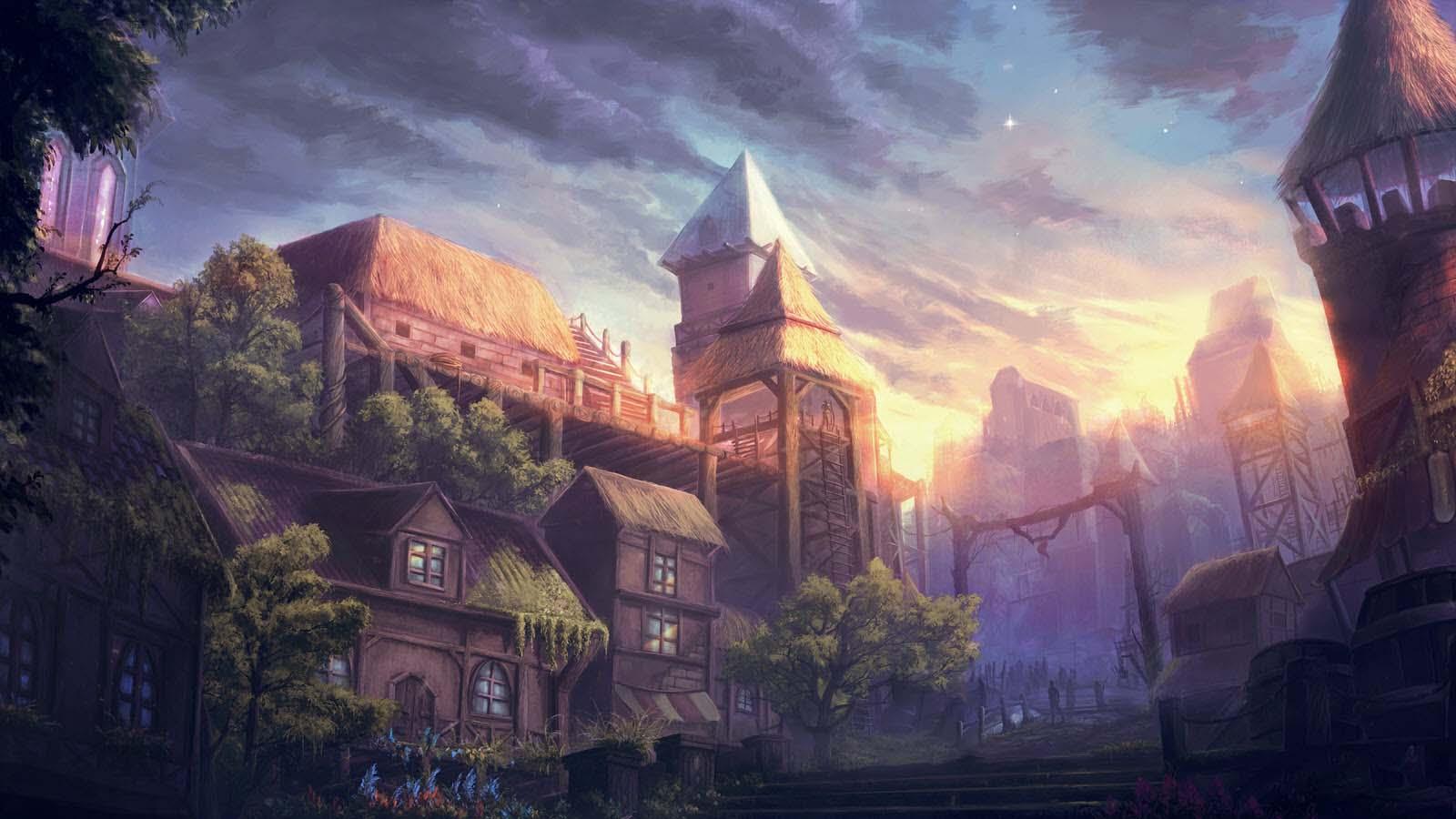 Hình ảnh đẹp phong cảnh anime