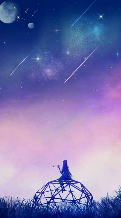 Hình nền anime galaxy
