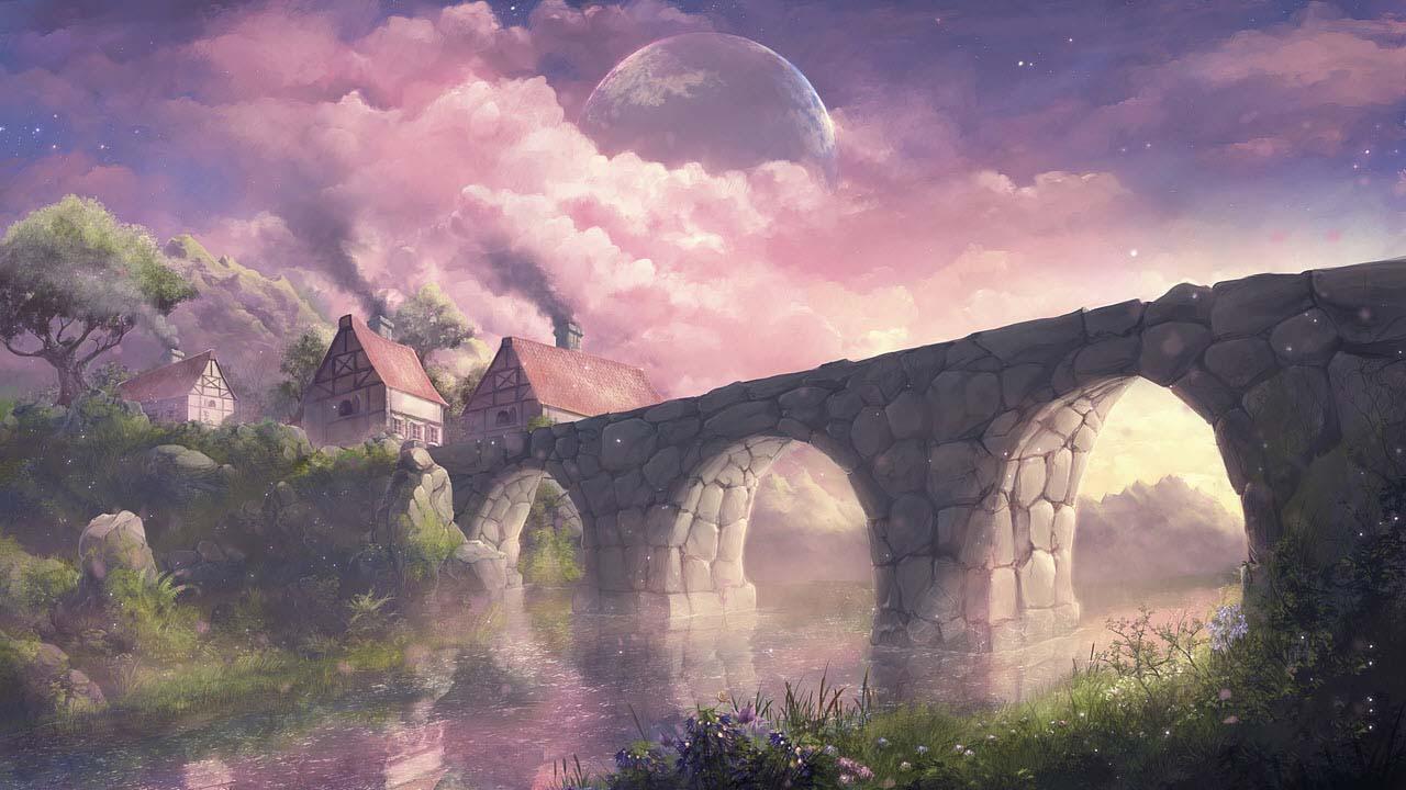Hình phong cảnh anime đẹp