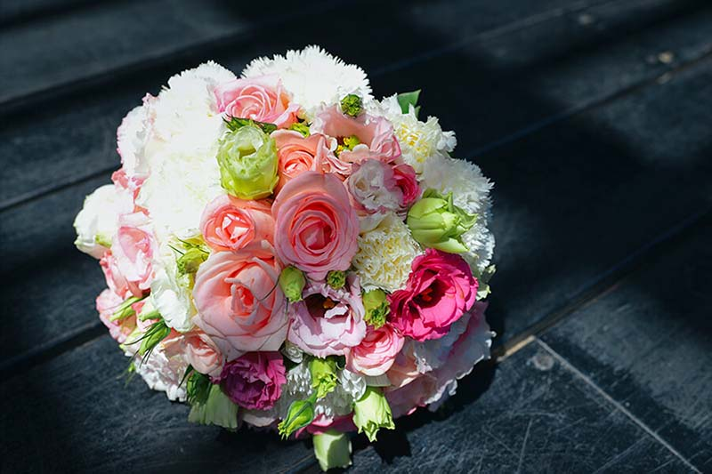 Hoa cưới cẩm chướng đẹp