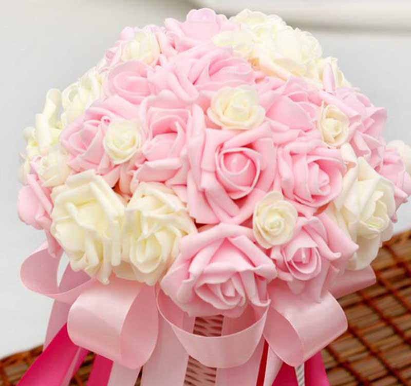 Hoa cưới màu hồng hình ảnh đẹp cho cô dâu ngày cưới