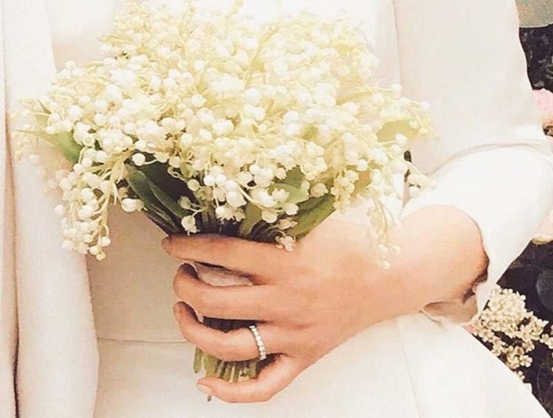 Hoa linh lan hoa cưới cô dâu đẹp