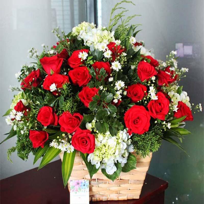 Lẵng hoa cưới đẹp nhất cho ngày cưới