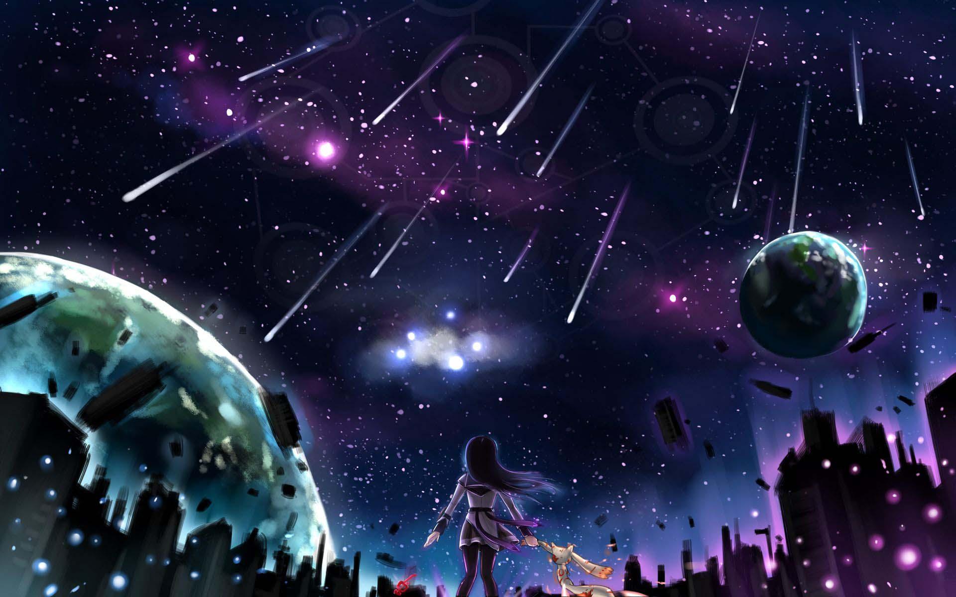 Những ảnh anime galaxy đẹp nhất