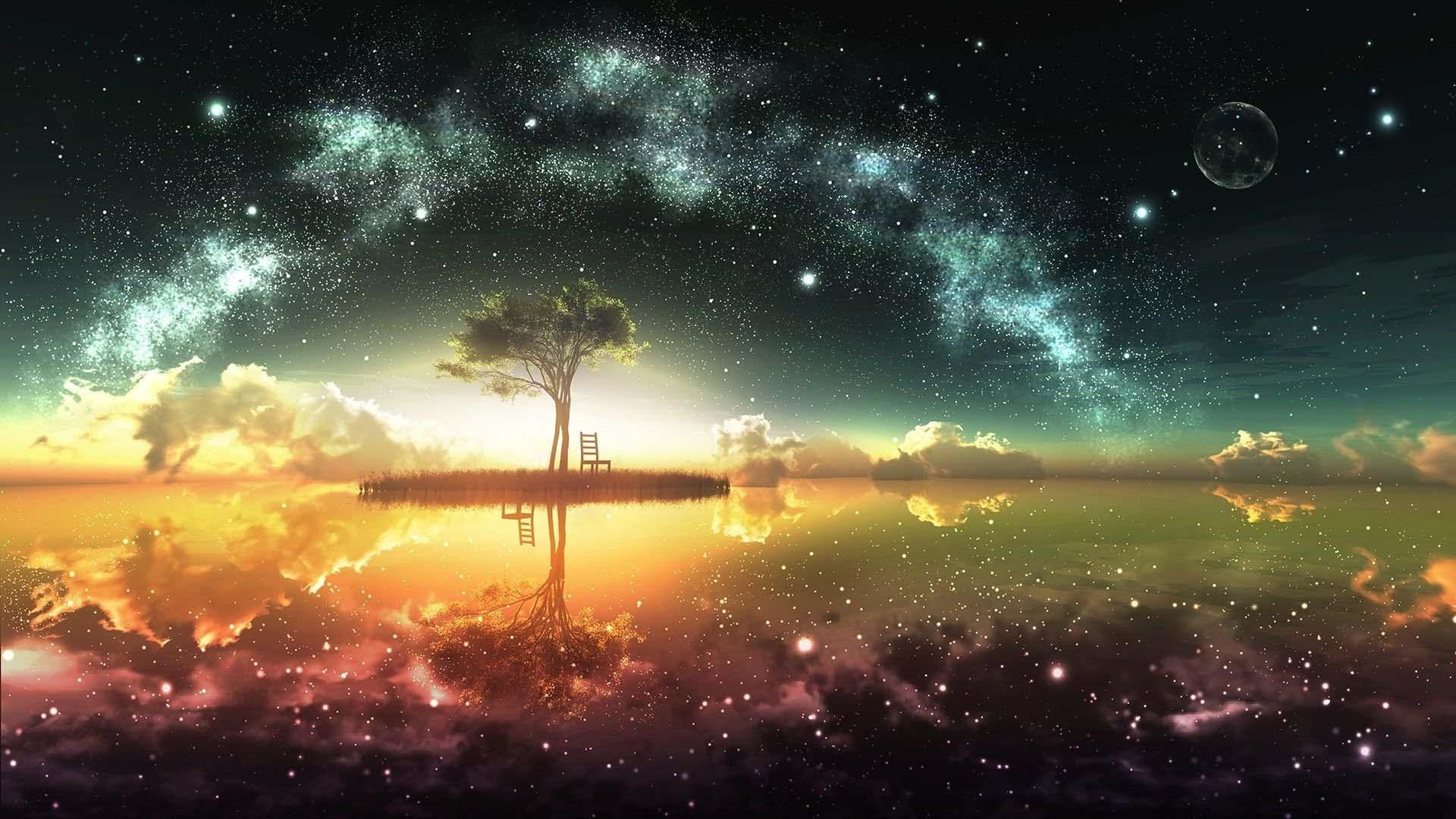 Những ảnh anime galaxy đẹp
