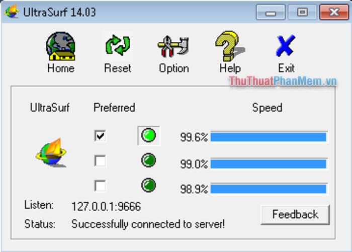 Phần mềm UltraSurf