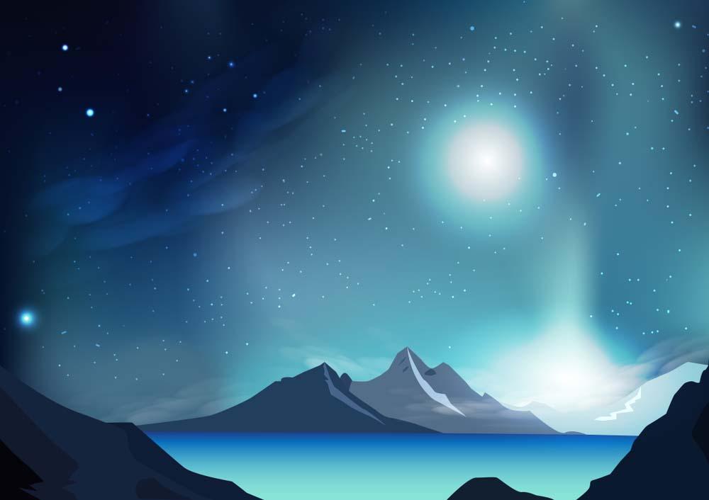 Phong cảnh anime galaxy đẹp