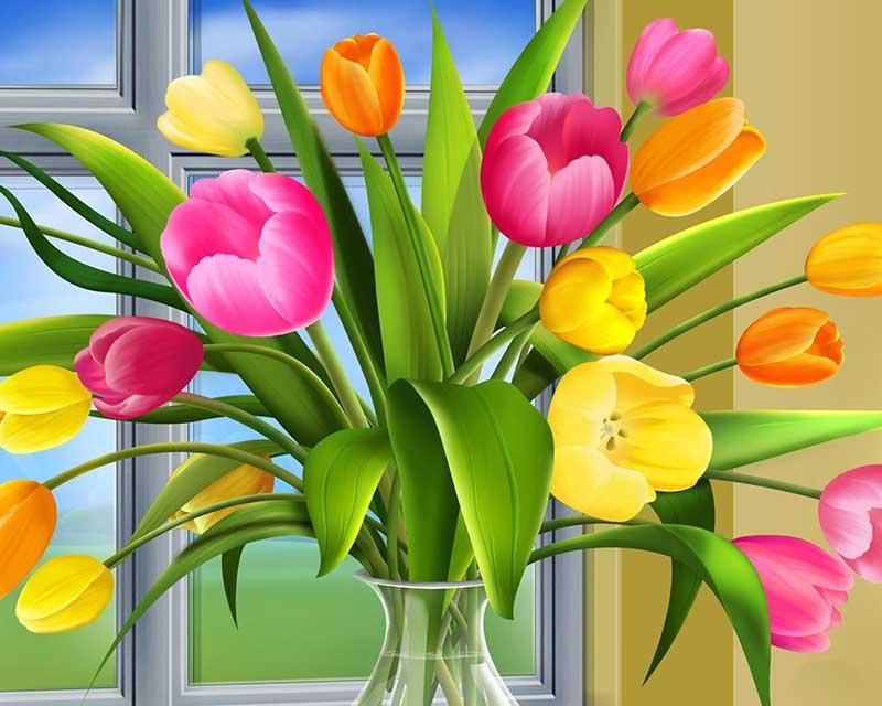 tải hình nền hoa Tulip cho máy tính sang trọng, rực rỡ sắc màu