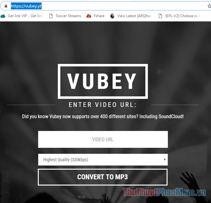 Truy cập trang Vubey