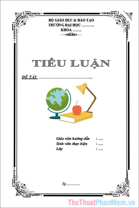 Mẫu bìa tiểu luận ngành kế toán