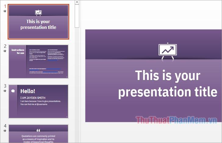 Theme Powerpoint đơn giản mà đẹp