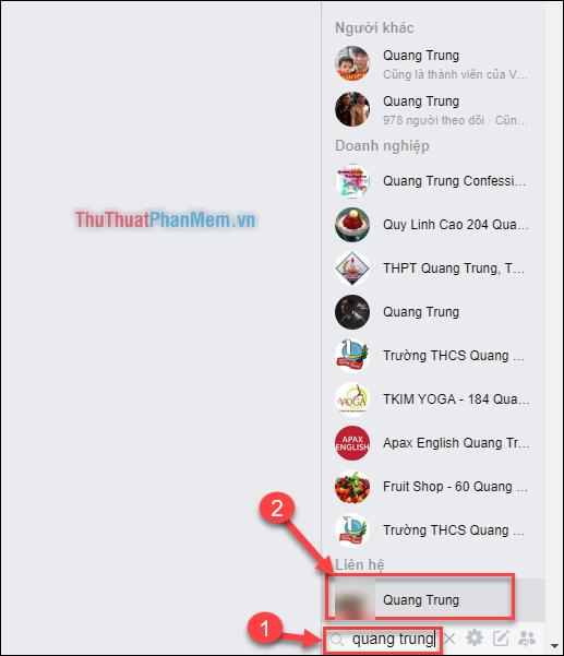 Trường hợp mà người bạn muốn gửi tin nhắn đang không hoạt động (không online)
