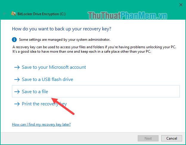 Chọn Save to a file (lưu thành file txt)