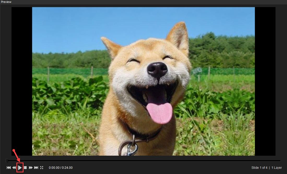 """Click chọn nút """"Play"""" để xem thử video"""