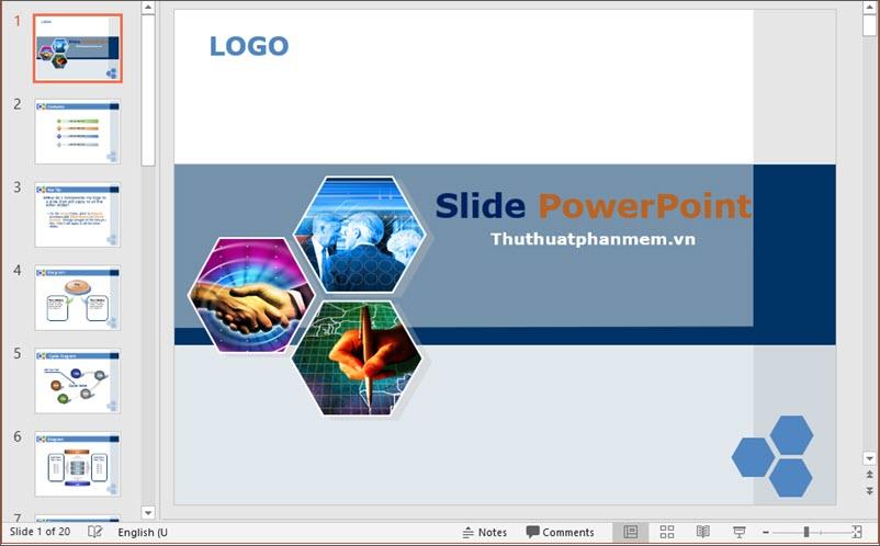 Mẫu PowerPoint đẹp và đơn giản