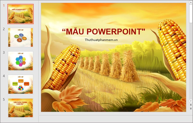 Mẫu PowerPoint thiết kế đẹp cho ngành Nông nghiệp