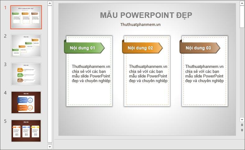 Mẫu PowerPoint thiết kế đẹp và đơn giản nhất