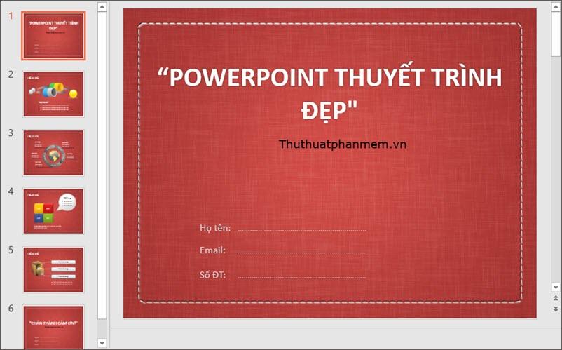 Mẫu PowerPoint thuyết trình đơn giản, đẹp nhất