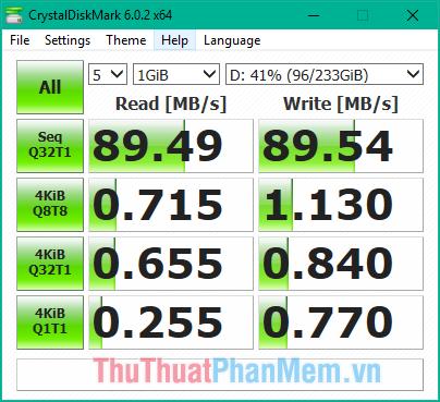 Tốc độ đọc ghi của ổ cứng HDD sau khi mã hoá bằng BitLocker