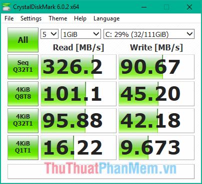 Tốc độ đọc ghi của ổ cứng SSD sau khi mã hoá bằng BitLocker
