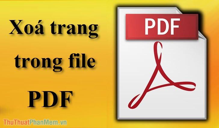 Cách xóa trang trong PDF - Xóa 1 trang tài liệu bất kỳ trong file PDF
