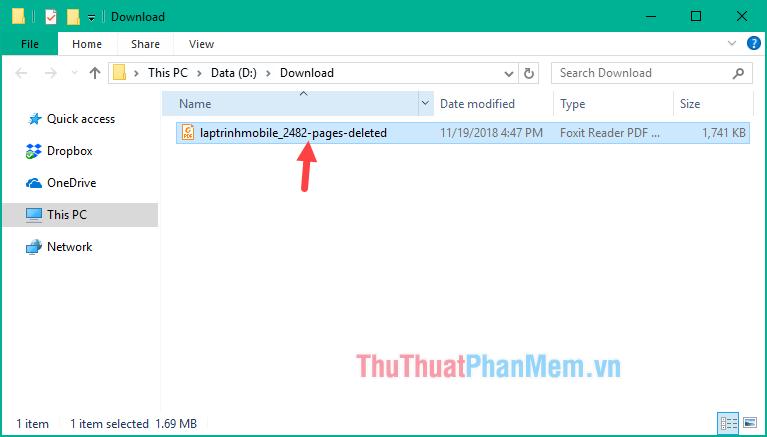 File tải về có tên với đuôi là pages-delete