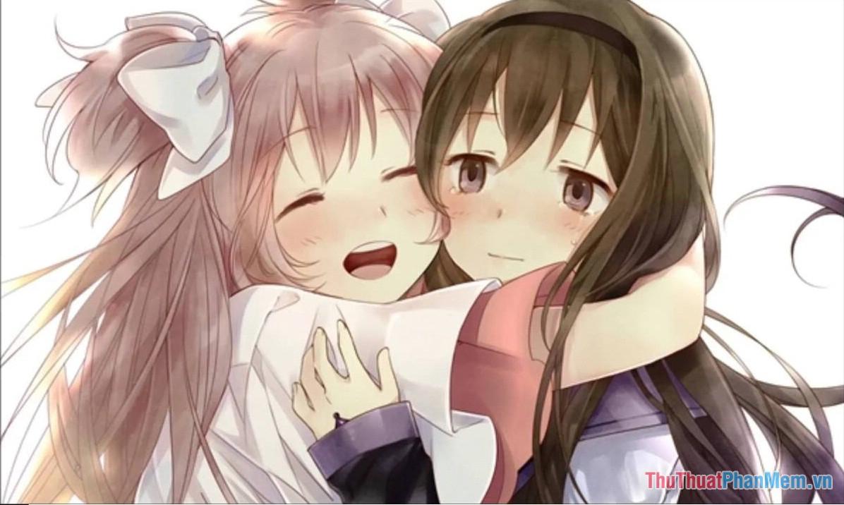 Hình ảnh Avatar đôi cho nữ Anime về tình bạn thân đẹp nhất
