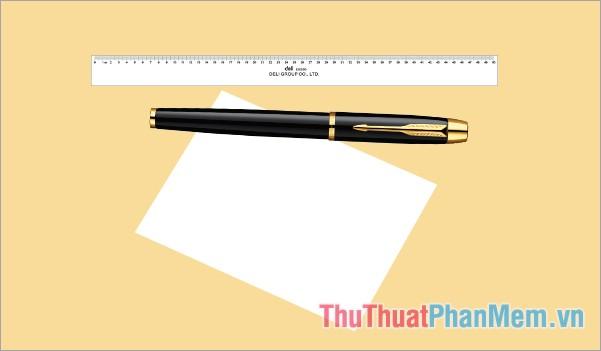Chuẩn bị 1 tờ giấy trắng lớn, 1 cây bút chì, 1 cây thước đo