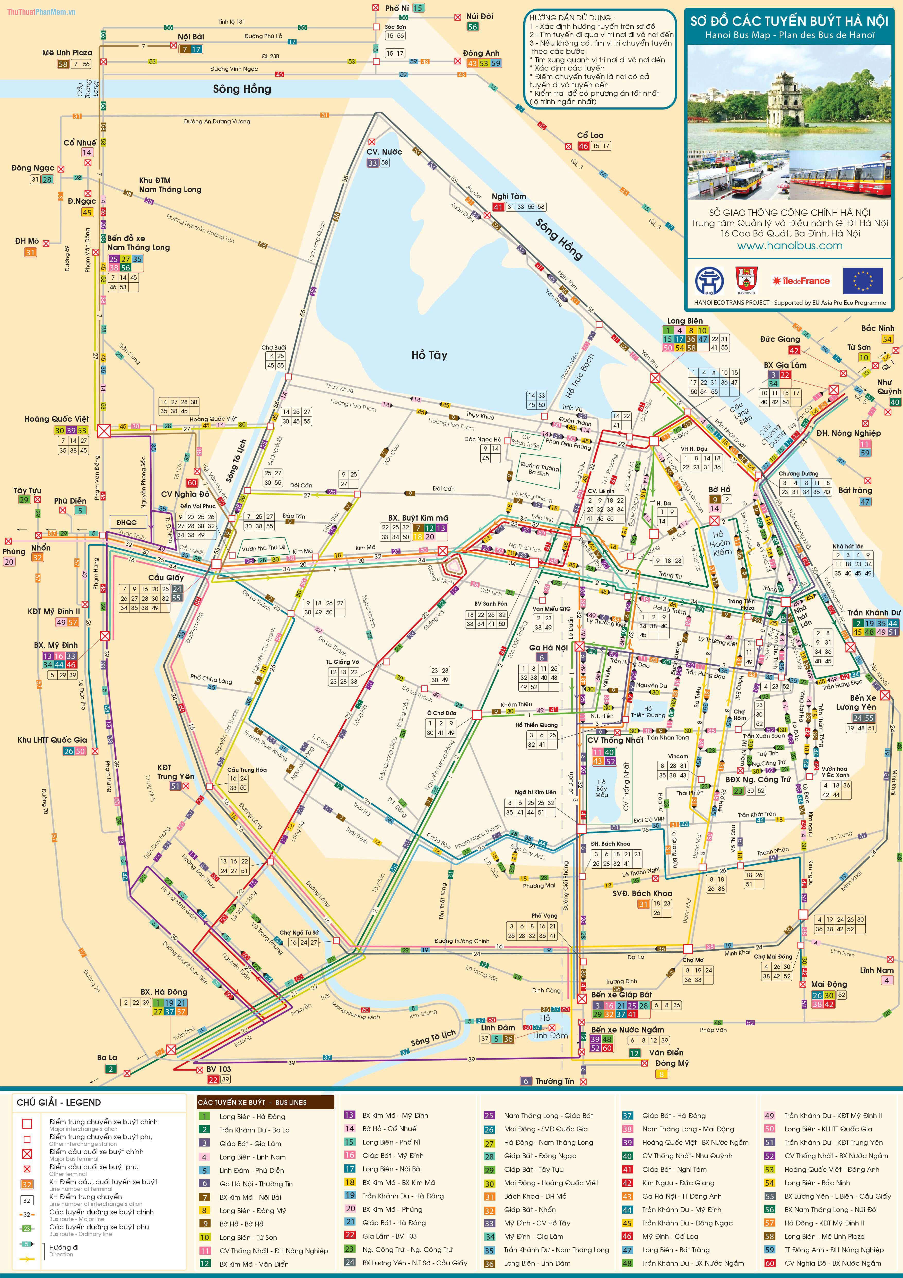 Bản đồ xe buýt Hà Nội
