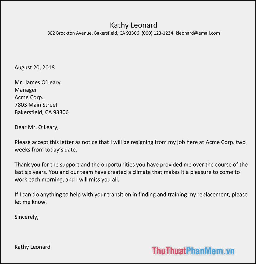 Cách trình bày một bức thư Tiếng Anh
