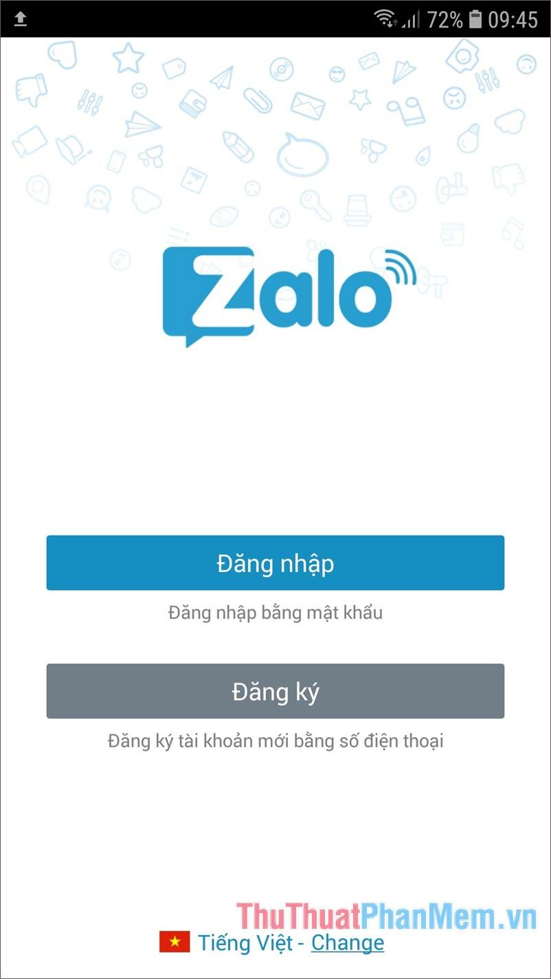Tài khoản Zing MP3 được kết nối với tài khoản Zalo